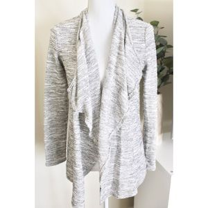 DAISY FUENTES / Marbled Knit Drape Front Cardigan